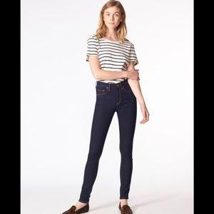 "Veronica Beard Kate 10"" Skinny Jeans Indigo"
